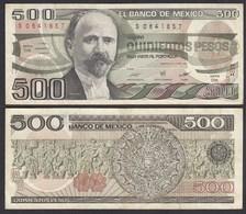 MEXIKO - MEXICO - 500 Pesos 1984 Serie DS Pick 79b  VF (3)   (26464 - Banknoten