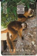 MADAGASCAR - Lemurs Of Madagascar, Stelmad S.A. First Issue 25 Units, CN : C4B147209, Used - Madagascar