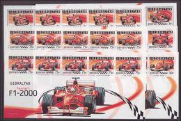 Gibraltar 2004 Ferrari Sheetlets Of 5 Unmounted Mint. - Gibraltar