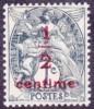 France Blanc N°  157 A ** Surchargé 1/2 C Sur 1ct. Ardoise -> Ici Le Type II - 1900-29 Blanc