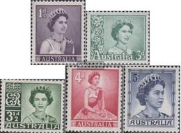Australia Mi.-number.: 288A-292A (complete Issue) Unmounted Mint / Never Hinged 1959 Elizabeth - 1952-65 Elizabeth II : Pre-Decimals