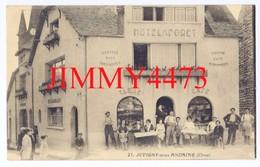 CPA - JUVIGNY-sous-ANDAINE 61 Orne - HOTEL FORET Bien Animé ( Café, Tabac, ) N°21 - Coll. Chevrel Hôtel De La Forêt - Juvigny Sous Andaine