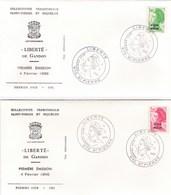 Saint-Pierre Et Miquelon - Lot 4 Enveloppes FDC 1er Jour Liberté De Gandon - CAD 1986 & 1988 - YT 462 464 466 489 - FDC