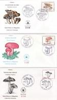 Saint-Pierre Et Miquelon - Lot 4 Enveloppes FDC 1er Jour Champignons - CAD 1987-90 - Timbres YT 475 486 497 513 - FDC