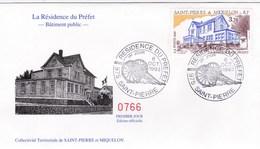 Saint-Pierre & Miquelon - Enveloppe FDC 1er Jour Résidence Du Préfet - CAD 6 Octobre 1993 - Timbre YT 584 - FDC