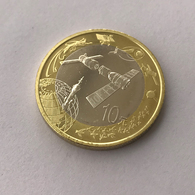 China 10 YUAN Aerospace Commemorative Coin 2015 Bi-Metallic UNC MUNZEN - Chine