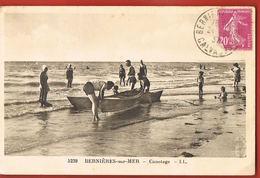 CPSM 14 -BERNIERES-sur-MER- Canotage  -LL5239- Voyagée 1937- Scans Recto Verso- Paypal Sans Frais - Autres Communes