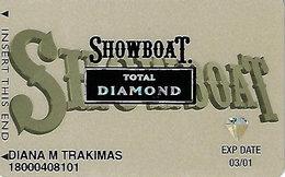 Showboat Casino - Atlantic City NJ - Total Diamond Slot Card - Casino Cards