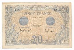 France 20 Francs Bleu  08/02/1913 TB/TTB - 1871-1952 Anciens Francs Circulés Au XXème