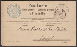 GL    MOLLIS - EIDG. FABRIKINSPEKTORAT  /  TOLLER STEMPELBELEG 1888 - Officials