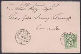 GL    LUCHSINGEN - ENNENDA  /  1904 - 1882-1906 Wappen, Stehende Helvetia & UPU