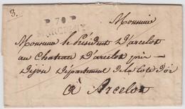 SAONE ET LOIRE LAC (datée De Anzy) 1825 PO.70.P./ MARCIGNY Voir Les Scans INDICE 15 COTE 160 EUROS - 1801-1848: Precursores XIX