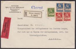 1925  -  SUPER TELL MEHRFACH / BUND-FRANKATUR - INTERESSANTE ADRESSE ( KRIMINALGERICHT AARAU) - Covers & Documents