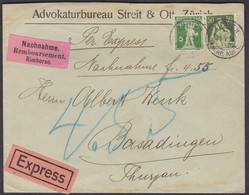 1918   EXPRESS-NACHNAHME  /  TOLLE KOMBINATION - Briefe U. Dokumente