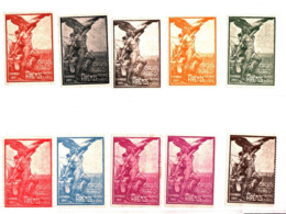93167) ITALIA-LOTTO DI 10 CHIUDILETTERA DEL CIRCUITO AEREO FIRENZE CAMPO DI MARTE 1911 - Lotti E Collezioni