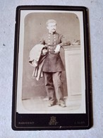 CDV Militaire Du 111 ème Régiment D'infanterie -  Circa 1880 - Photo Marguerit, ALAIS - TBE - War, Military