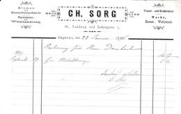 HAGENAU CH SORG BLUMEN BLUMENBESTANDTHEILE TRAUER UND GRABKRANZE WACHS KERZEN WEIHRAUCH ANNEE 1896 - France