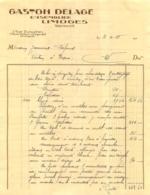 GASTON DELAGE ENSEMBLIER LIMOGES 1935 ENVOYEE A NEXON - 1900 – 1949