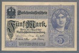 P56b - Ro54c - DEU-61b.  5 Mark 1917 UNC - [ 2] 1871-1918 : Impero Tedesco