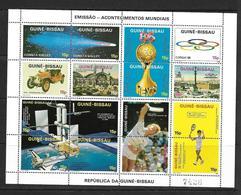 GUINEE BISSAU 1986 FEUILLET EVENEMENTS 1986 YVERT N°391/405  NEUF MNH** - Guinée-Bissau