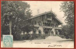 CPA 33- ARCACHON-Gironde Villa Pereire-Cycliste -voyagée 1905 - Scans Recto Verso-Paypal Sans Frais - Arcachon