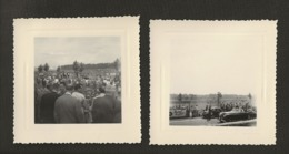14 Caen / Circuit Automobile De La Prairie Vers 1950 / Lot De 2 Photographies En 8x8 (renault 4v ) - Caen