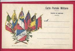 FM CARTE DE FRANCHISE MILITAIRE 6 DRAPEAUX VIERGE - Storia Postale
