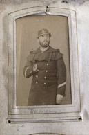 Photographie CDV. Portrait D'un Homme DANGOU De La  Comédie Française,Opéra, Politique, Soldat Militaire ?  Holtzem - Photos