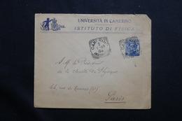 ITALIE - Enveloppe De L 'Université De Camerino Pour La France En 1909, Affranchissement Plaisant - L 55582 - Storia Postale