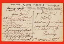 Car815 TROUVILLE-sur-MER Hopital Militaire N° 30 PALACE Vue Prise Plage 1915 à BOUTET Soldat 3e Infanterie Perpignan - Trouville