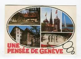 C.P °_ Suisse-Genève-multivue Cinq Photos-Pensée-1988 - GE Geneva