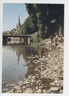 Tulle : Les Bords De La Corrèze (cp Vierge N°29) Animée Enfants Pont église - Tulle