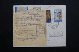 GRECE - Enveloppe En Recommandé De Volos En 1963 Avec étiquette De La Poste , Affranchissement Plaisant - L 55600 - Briefe U. Dokumente