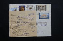 GRECE - Enveloppe En Recommandé De Volos En 1963 Avec étiquette De La Poste , Affranchissement Plaisant - L 55602 - Briefe U. Dokumente