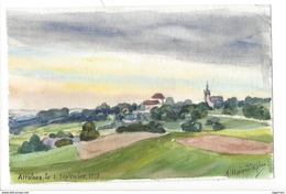 21269-  Attalens 1918 Petite Aquarelle (9 X 14) Signée Et Datée  A. Morerod-Triphon Peintre 1871-1948 - Aquarelles