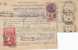 SERVICE DE LA RADIODIFFUSION - CARTE D'AUDITEUR Affr Y&T 2 Rouge Obl STRASBOURG CRONENBOURG Du 13.7.36 - Elsass-Lothringen