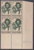 N° 91 En Bloc De 4 Coin Daté 28/07/38 - X X - ( C 460 ) - Mauritanie (1906-1944)