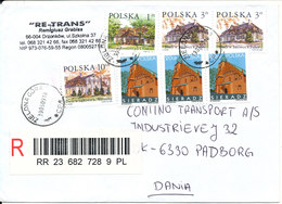 Poland Registered Cover Sent To Denmark Zielona Gora 19-5-2009 With A Lot Of Stamps - 1944-.... Republic