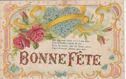 """20 / 3 / 182. -  """"  BONNE  FÊTE  """" FLEURS  GAUFRÉES  ET. NOEUDS - Holidays & Celebrations"""