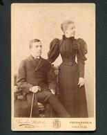 Fotografia CONDES De CAMPO BELO (Vila Nova De Gaia) Diogo Paiva Tavora Cernache E D.Jeronima. EMILIO BIEL Porto PORTUGAL - Ancianas (antes De 1900)