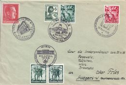 Allemagne - Empire - Lettre De 1938 ° - Oblit Spéciale München Pasewalk Wien Braunau - Anniversaire D'Hitler - Briefe U. Dokumente