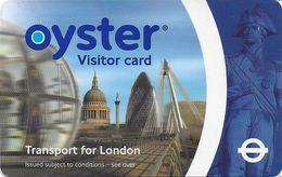 CARTE TRANSPORT METRO AUTOBUS TRAMWAY TRANSPORT LONDRES ROYAUME-UNI CARTE VISITEUR - Biglietti Di Trasporto