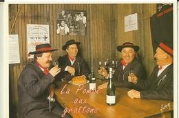 Saint Pourcain Sur Sioule-degustation De La Pompe A Grattons  Par Les Compagnons De La Ficelle-cpm - France