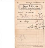 ZWEIBRUCKEN GROSS MARCUS SPECIAL GESCHAFT ZUR ANFERTIGUNG FEINER HERREN GARDEROBE ANNEE 1896 A HAGUENAU - Allemagne