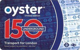 CARTE TRANSPORT METRO AUTOBUS TRAMWAY TRANSPORT LONDRES ROYAUME-UNI CARTE EDITION LIMITÉE 150 UNDERGROUND - Biglietti Di Trasporto