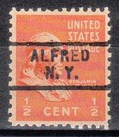USA Precancel Vorausentwertung Preo, Locals New York, Alfred 729 - United States