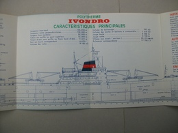 "Fascicule  Polytherme ""IVONDRO"" Chantier De France De Dunkerque (Nord ) 59 - Macchine"