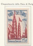 PIA  - FRAN : 1954 : Cinquantenario Della Fiera Di Parigi  - (Yv 975) - Francia