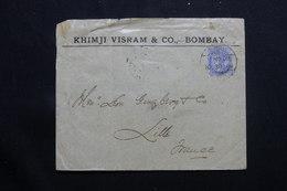 INDE - Enveloppe Commerciale De Bombay Pour La France En 1902, Affranchissement Victoria - L 55636 - India (...-1947)