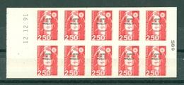 ST-PIERRE ET MIQUELON - N° C557** MNH LUXE - Carnet De 25 F. Contenant 10 Timbres N° 557 Avec Date 12.12.91 - Cuadernillos/libretas